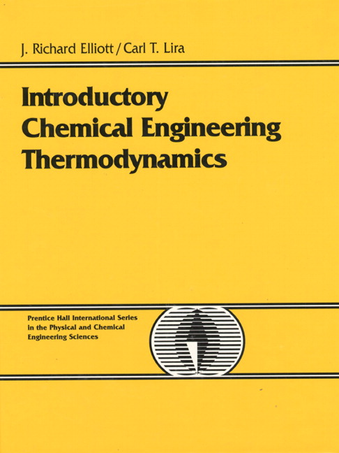 Introductory Chemical Engineering Thermodynamics Pdf