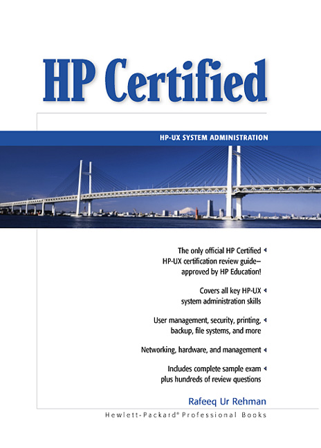 Rehman, HP Certified: HP-UX System Administration | Pearson