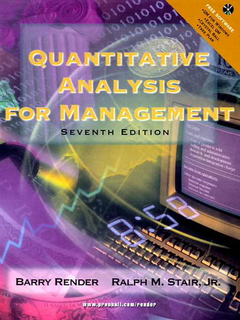 quantitative analysis for management solutions manual Solution manual on quantitative analysis for management by render, stair, hanna solution manual on quantitative analysis for management 1 edition by.