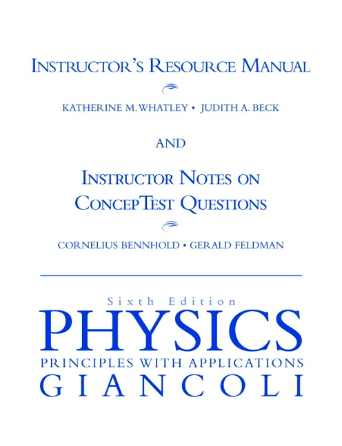 Instructor's Resource Manual and Instructor's Notes on Concept Test Questions