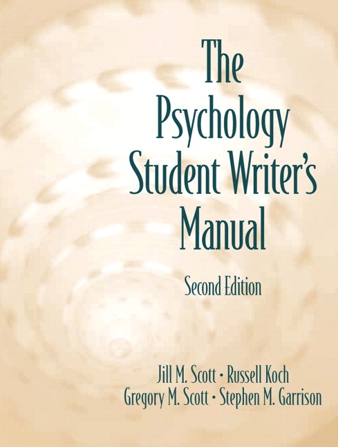 Psychology Student Writer's Manual, The, 2nd Edition