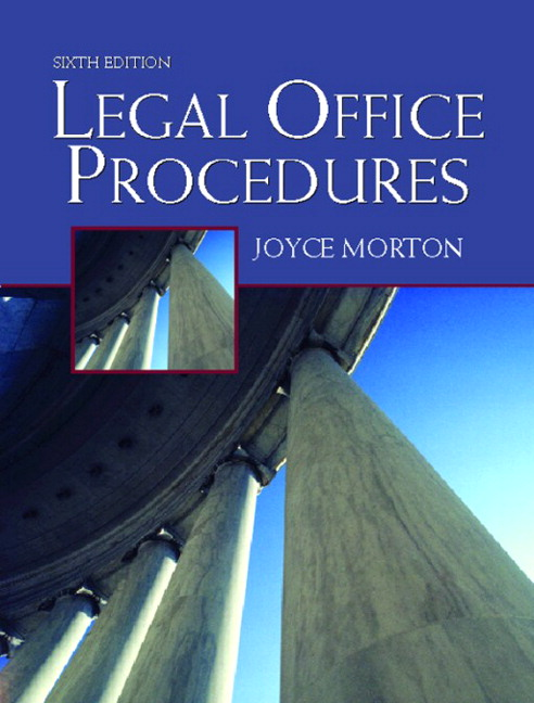 procedures for the canadian legal office 7th edition pdf