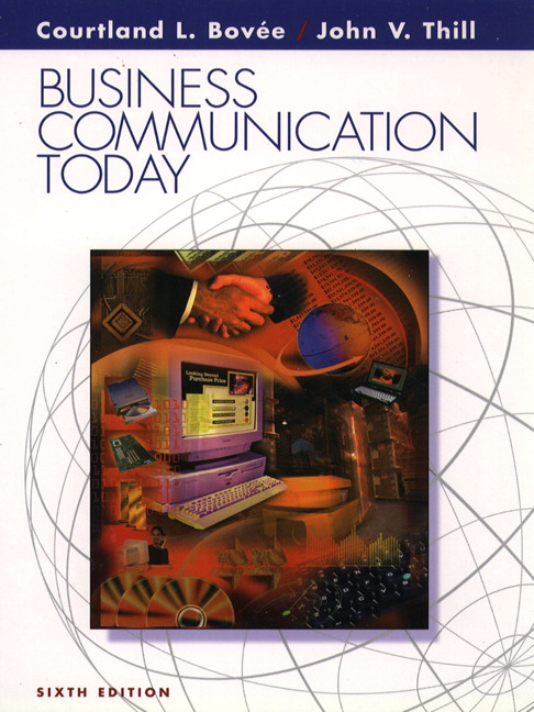 Business Communication Book Cover : Bovee thill schatzman business communication today