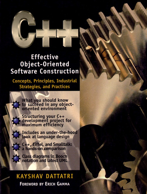 Dattatri C Effective Object Oriented Software Construction Concepts Practices Industrial Strategies And Practices 2nd Edition Pearson