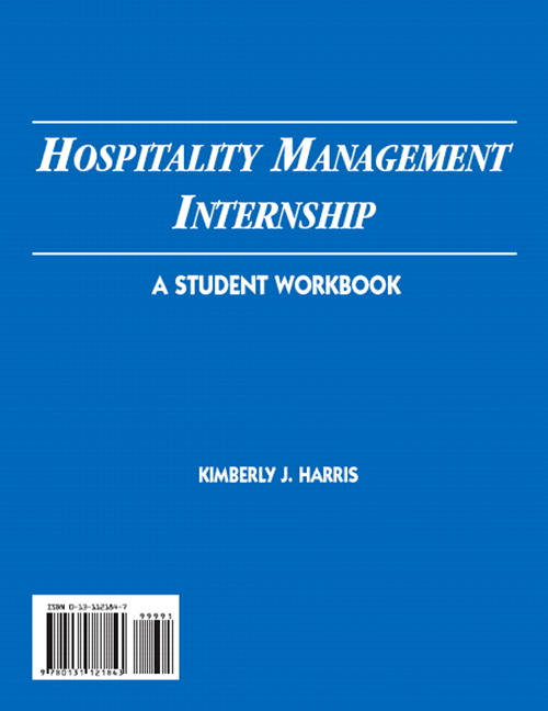 Harris, Hospitality Management Internship: A Student