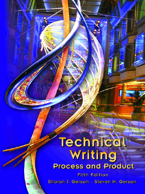 Technical writing service process and product
