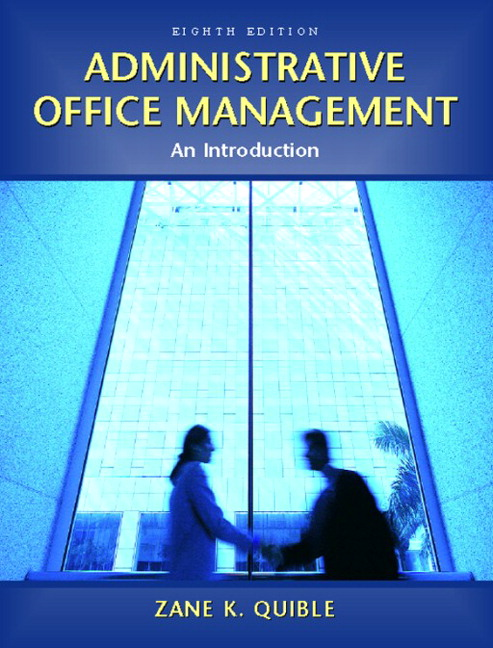 quible administrative office management 8th edition pearson
