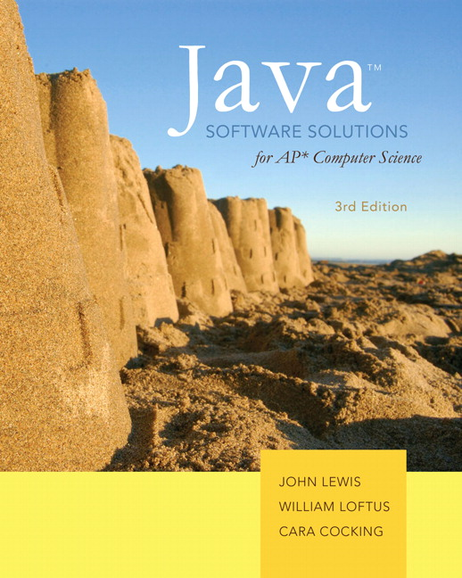 Lewis, Loftus & Cocking, Java Software Solutions for AP