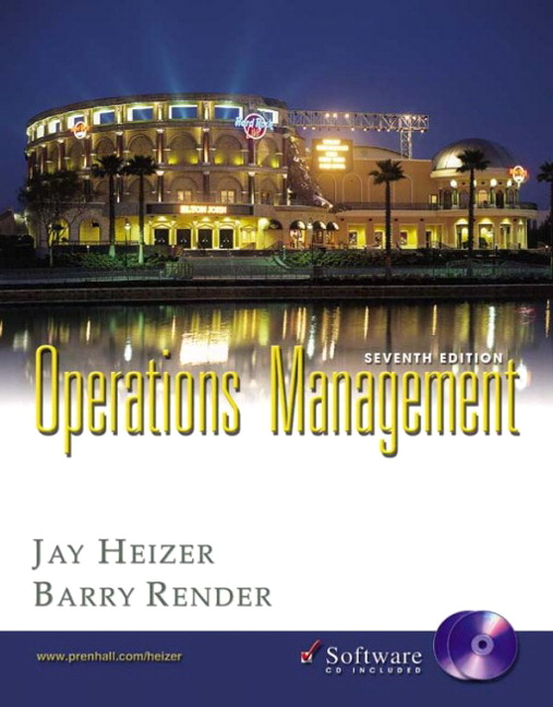 Heizer Render Operations Management 7th Edition Pearson