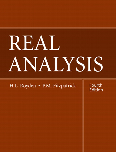 Real Analysis, 4th Edition