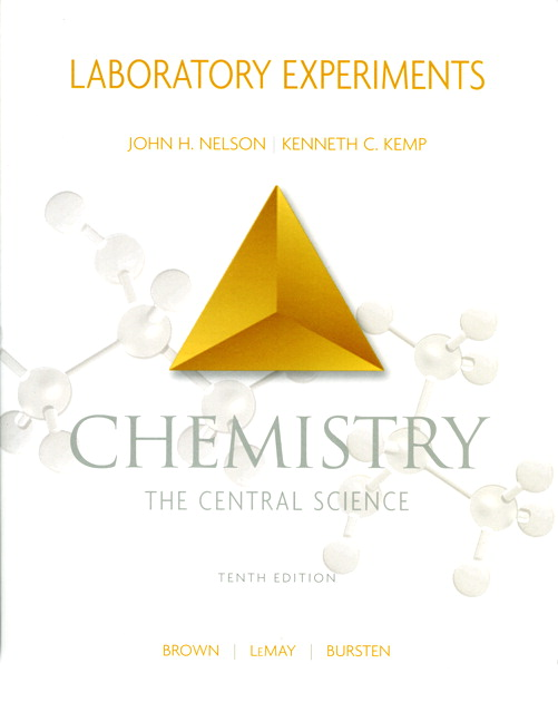 nelson   kemp  chemistry the central science  laboratory Chemistry Textbook Chemistry Laboratory Manual Blue Cover