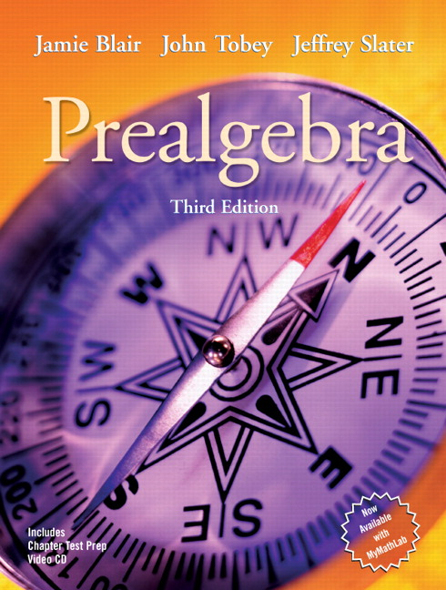 Blair tobey slater prealgebra 4th edition pearson prealgebra 3rd edition fandeluxe Image collections