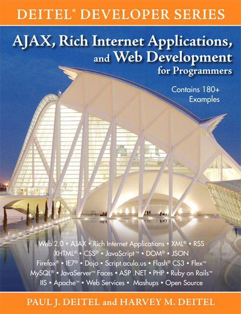 Deitel Deitel Ajax Rich Internet Applications And Web Development For Programmers Pearson