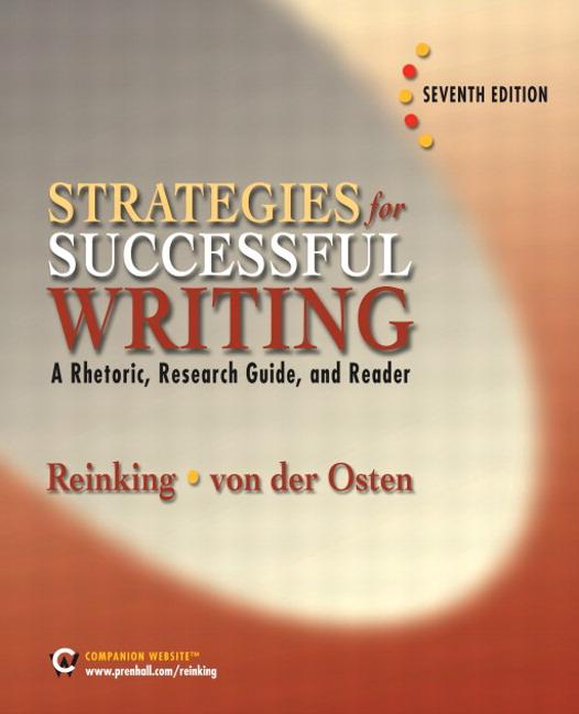 strategies for writing a rhetorical essay