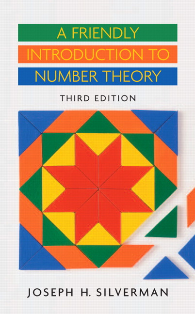 a friendly introduction to number theory silverman 4th edition pdf