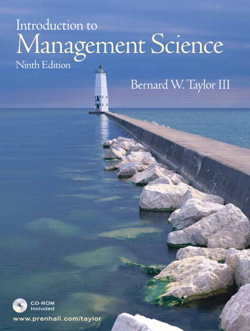 Taylor introduction to management science 10th edition pearson introduction to management science with student cd 9th edition taylor fandeluxe Choice Image