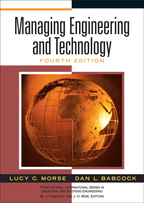 Morse babcock managing engineering and technology pearson book cover fandeluxe Gallery