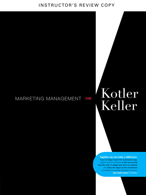 marketing management 14th edition kotler and keller practice quiz Free essay: marketing management, 14e (kotler/keller) chapter 1 defining marketing for the 21st century 1) which of the following statements about marketing.