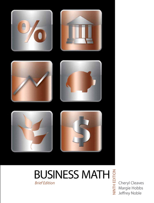 Cleaves hobbs noble business math pearson business mathematics brief edition 9th edition fandeluxe