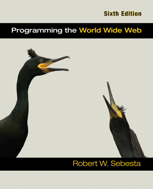Sebesta programming the world wide web pearson programming the world wide web view larger fandeluxe Images