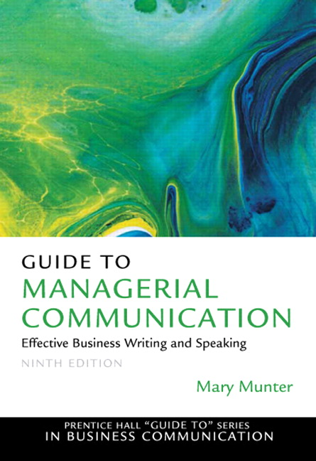 Munter guide to managerial communication pearson guide to managerial communication subscription 9th edition fandeluxe