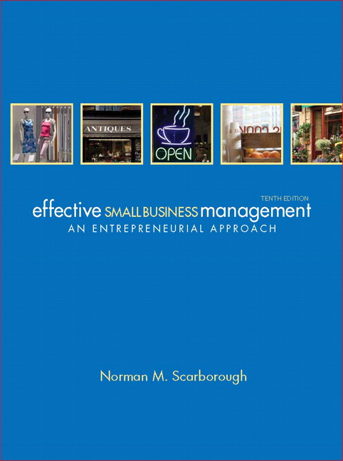 Scarborough Effective Small Business Management Pearson