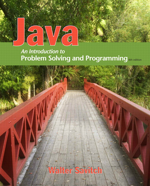 savitch java an introduction to problem solving and programming rh pearson com