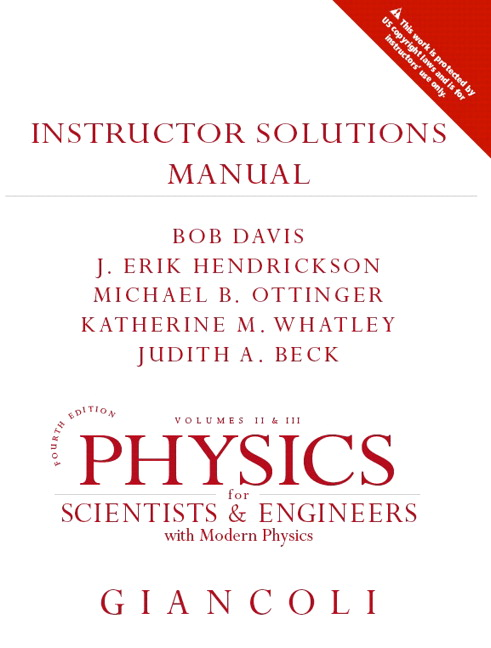 pearson physics for scientists and engineers solution manual
