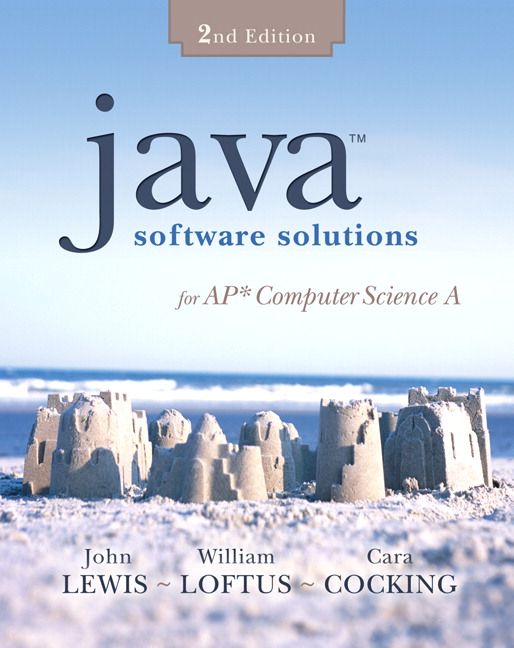 Lewis loftus cocking java software solutions for ap computer previous editions book cover fandeluxe Images