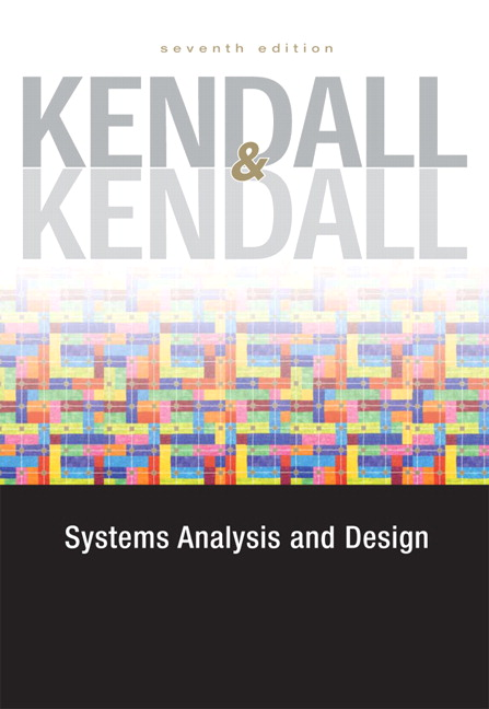 Kendall Kendall Systems Analysis And Design 8th Edition Pearson