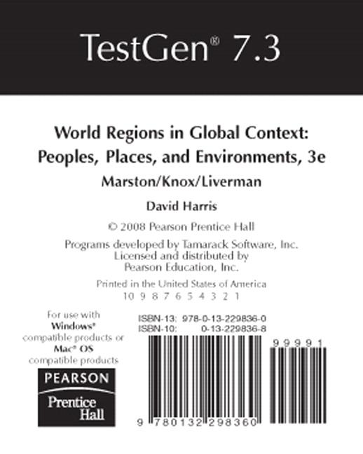 Harris, TestGen® Computerized Test Bank for World Regions in