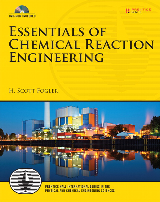 Fogler essentials of chemical reaction engineering pearson book cover fandeluxe Images