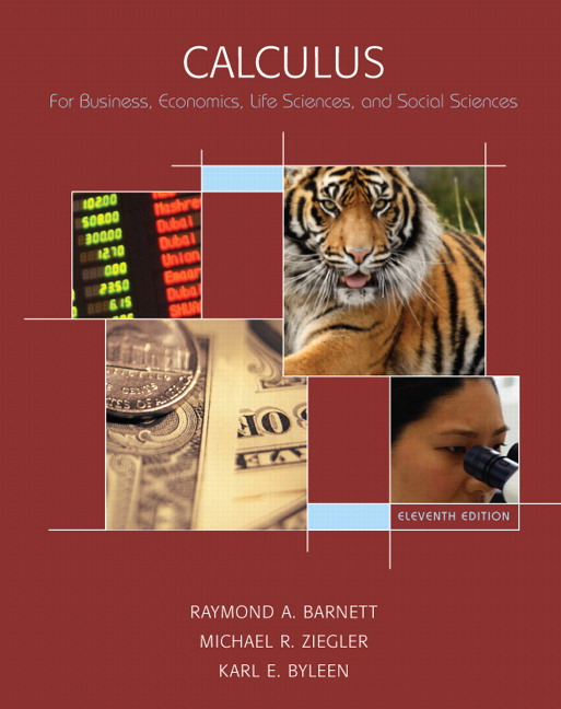 Barnett ziegler byleen calculus for business economics life calculus for business economics life sciences and social sciences 11th edition fandeluxe Gallery