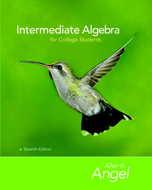 Angel & Runde, Intermediate Algebra for College Students