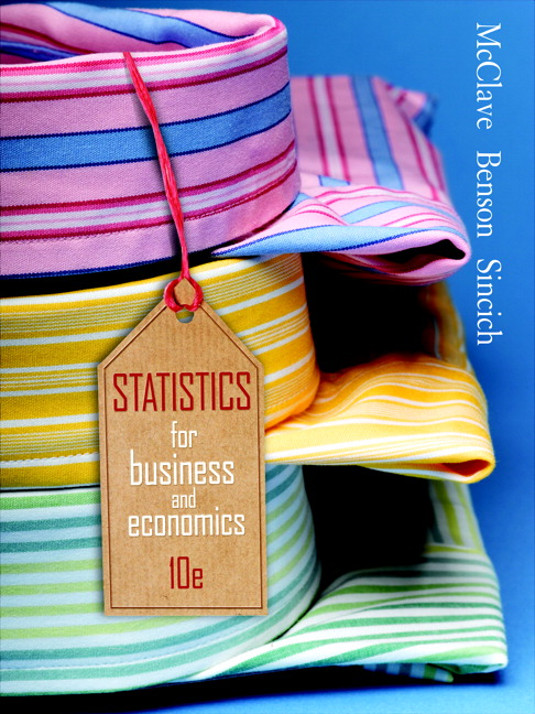 Mcclave benson sincich statistics for business and economics statistics for business economics 10th edition fandeluxe Choice Image