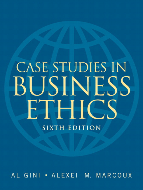 ethical issues in business case studies Previous article in issue: business ethics and compliance: what management is doing and why previous article in issue: business ethics and compliance: what management is doing and why.