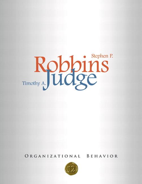 Robbins Judge Organizational Behavior Pearson