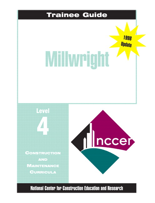 NCCER Millwright Level 4 Trainee Guide Paperback 3rd