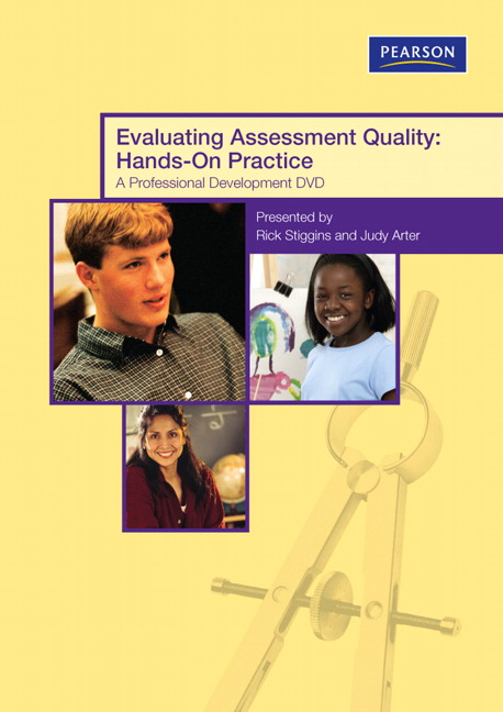 assessment essay quality stiggins Stiggins definitions of types of assessments 1  this assessment activity requires a student to produce evidence  but the level of quality of the product.