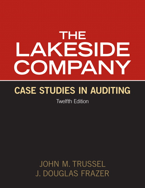 The lakeside company case studies in auditing solution manual