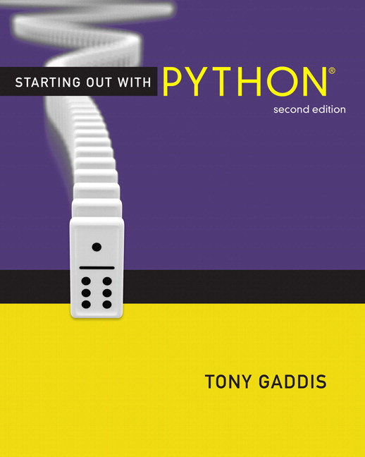 starting out with python 4th edition tony gaddis pearson pdf