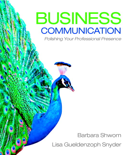 Business Communication Book Cover : Shwom snyder business communication polishing your