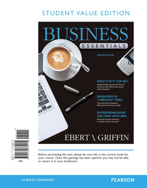 Business essentials 9th edition by ebert test bank test banks help.