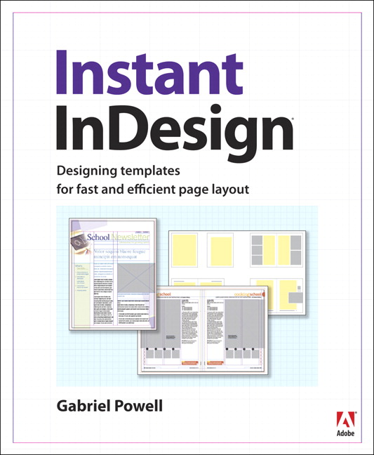 Powell instant indesign designing templates for fast and for Indesign templates for books