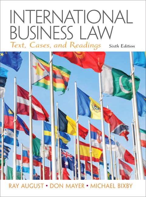 International business law and its environment 6th (sixth) edition.