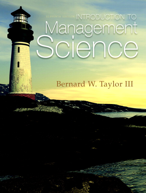 intro to management science taylor 10ed solutions and testbank Download all chapters of solution manual for introduction to management science 12th edition by taylor.
