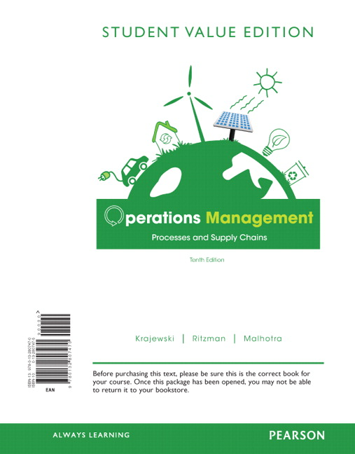 operations management test bank Operations management 1st edition cachon test bank download free sample here for operations management 1st edition cachon test bank note : this is not a text book file format : pdf or word.