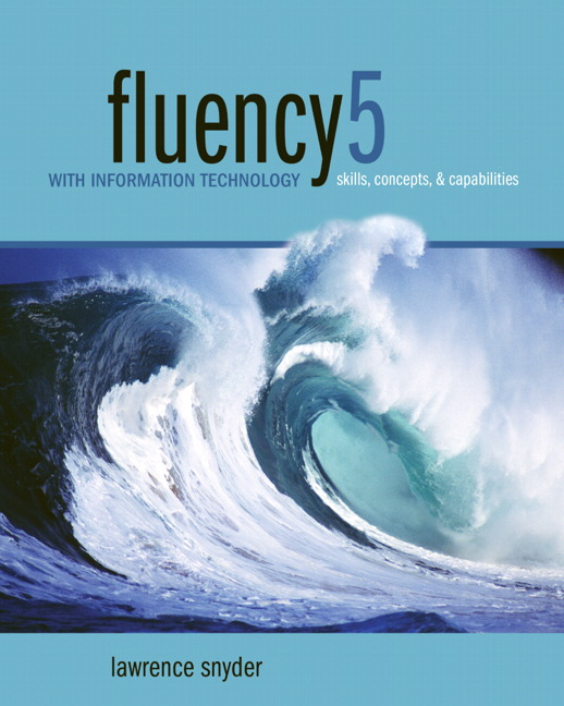 fluency 5 with information technology manual solution