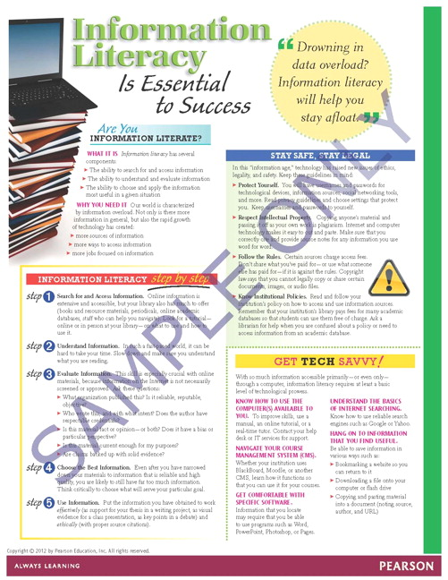 Success Tips: Information Literacy is Essential to Success