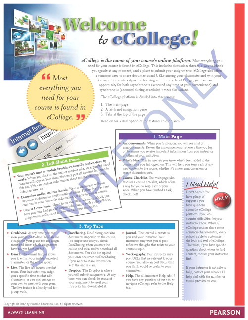 Success Tips: Welcome to eCollege!